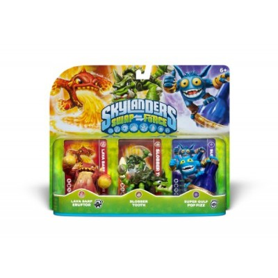 Skylanders SWAP Force Triple Character Pack: Lava Barf Eruptor, Slobber Tooth, Super Gulp Pop Fizz