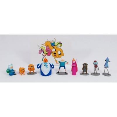 Full Set (9 pcs) of Adventure Time and Regular Show Vending Mini Figures + bonus Adventure Time Sticker