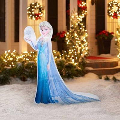 CHRISTMAS INFLATABLE 5' LED PHOTOREAL ELSA DISNEY FROZEN OUTDOOR YARD DECORATION BY GEMMY