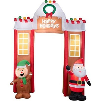 """Fun 10'6"""" Airblown Inflatable Gingerbread Archway Christmas Inflatable"""