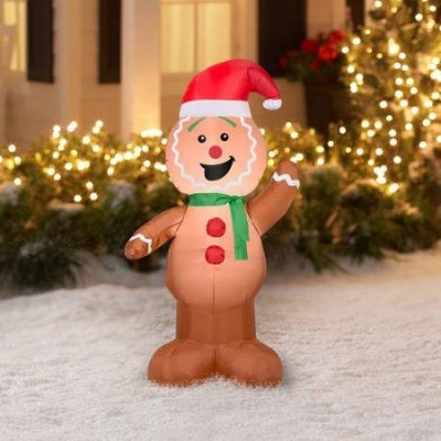 Airblown Inflatable Outdoor Christmas Characters - 4 foot tall (Gingerbread Man)