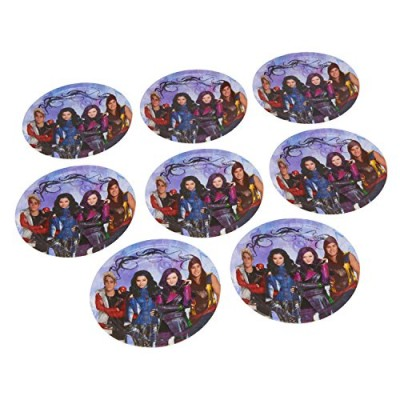 "American Greetings Descendants 7"" Round Plate Party Supplies (8 Count)"
