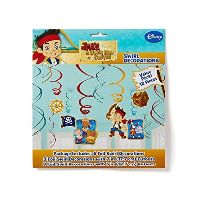 American Greetings Jake and the Never Land Pirates Hanging Party Decorations, Party Supplies