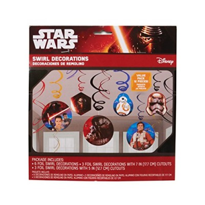 American Greetings Star Wars Episode VII Hanging Decorations, Party Supplies Novelty