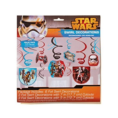American Greetings Star Wars Rebels Hanging Party Decorations, Party Supplies