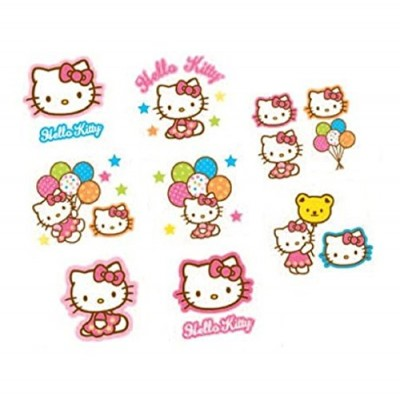 16-Piece Hello Kitty Balloon Dreams Tattoos, Multicolored
