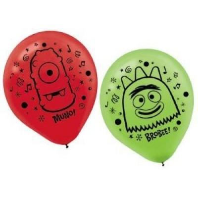 "Amscan Yo Gabba Gabba 12"" Latex Balloons 6 Count."