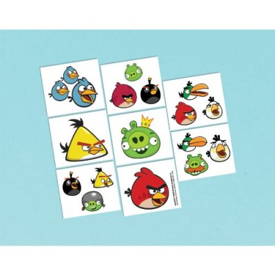 Angry Birds Tattoos 16ct