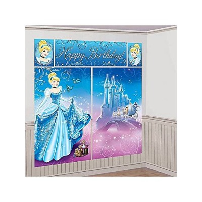 Cinderella Scene Setter Wall Decorating Kit Princess Disney Birthday Party