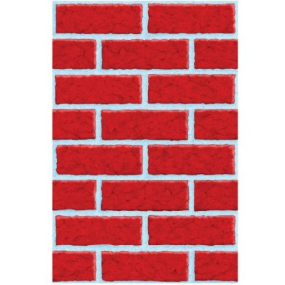 Deck the Walls Red Brick Room Roll