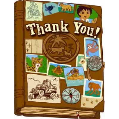 Go Diego, Go! Thank You Notes 8ct