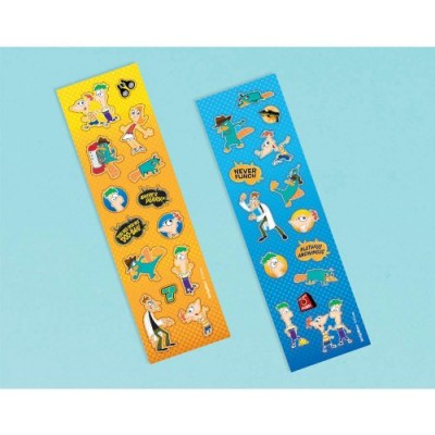 Phineas and Ferb Stickers 8 Strips