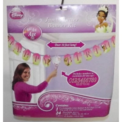 Tiana Enchanted Princess & the Frog Jumbo Letter Banner Kit Happy Birthday