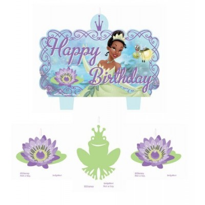 Tiana Princess and the Frog Birthday Candles Cake Decoration Disney Party