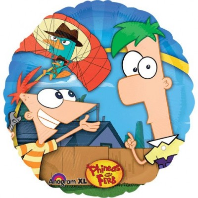 "Phineas and Ferb 18"" Foil Balloon Perry Disney Birthday Party Supplies"