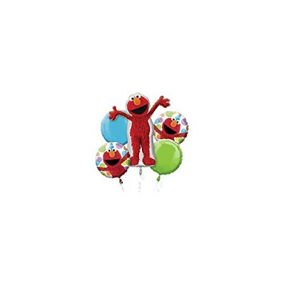 Anagram Elmo Style Birthday Balloon Bouquet