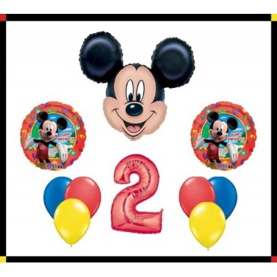 "Disney Mickey Mouse Clubhouse ""2"" Happy Birthday Balloon Set Party Decoration"
