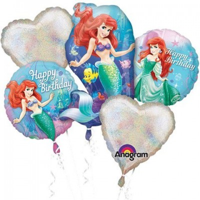 Little Mermaid Birthday Bouquet of Balloons