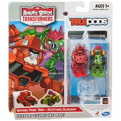 Angry Birds Transformers Telepods Sentinel Prime Bird vs. Deceptihog Bludgeon Figure Pack
