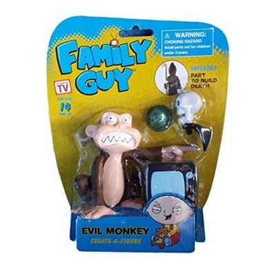 Family Guy Create-a-Figure Evil Monkey (Includes Part to Build Death)