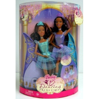 Barbie in the 12 Dancing Princesses Princess Isla and Princess Hadley Dolls African American