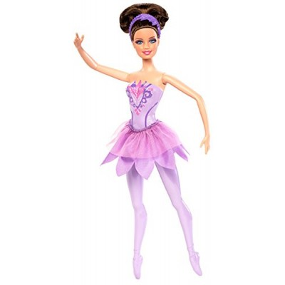 Barbie in The Pink Shoes Ballerina Doll, Purple Dress