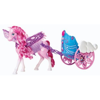 Barbie Mariposa and The Fairy Princess Pegasus and Flying Chariot Set
