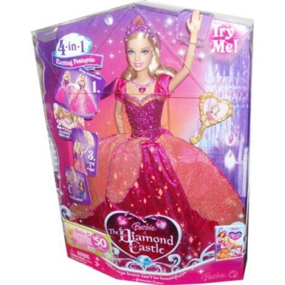 Barbie The Diamond Castle DVD Series 12 Inch Singing Doll - Princess Liana with Transforming Dress, Light-Up Necklace and Hairbrush (Caucasian - M0...