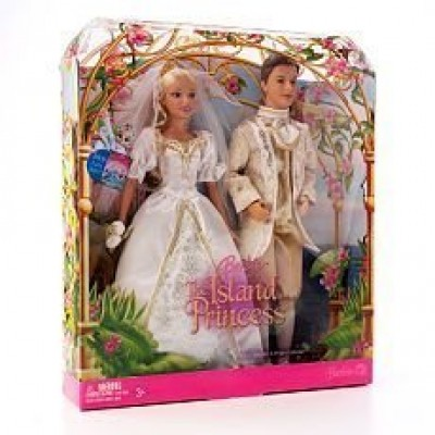 Barbie (The Island Princess) Princess Rosella & Prince Antonio Royal Wedding Set