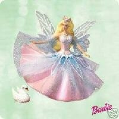 QXI8447 Barbie Swan Lake Ornament Set 2003 Hallmark Keepsake Ornament