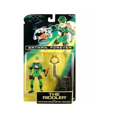 "5"" Jim Carrey As the Riddler Action Figure with Trapping Brain-Drain Helmet! - Batman Forever: The Movie"