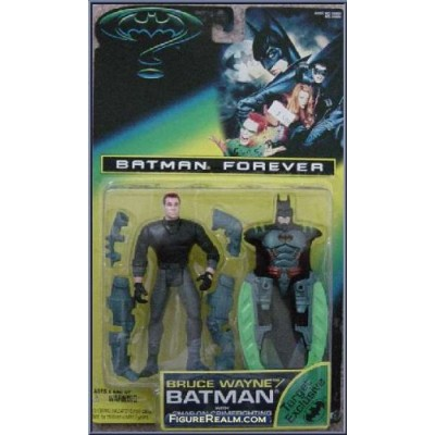 BATMAN FOREVER: Bruce Wayne/Batman with Snap-on Crimefighting Armor and Side Swords