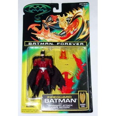Batman Forever - Fireguard Batman with Spinning Attack Cape Action!
