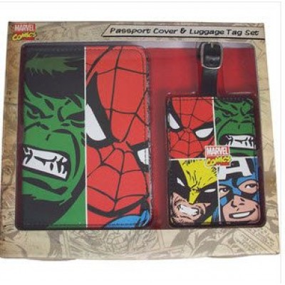 BB Designs Marvel Comics Marvel Face Off Multi Character Passport Holder and Luggage Tag