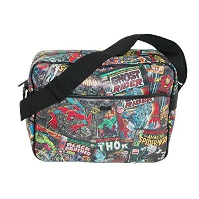 BB Designs Unisex Marvel Comic Multi Character Messenger Bag, Multi-color