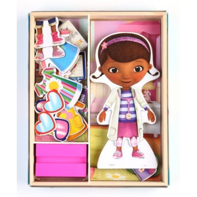 Bendon Disney Doc McStuffins Wooden Magnetic Playset, 25-Piece