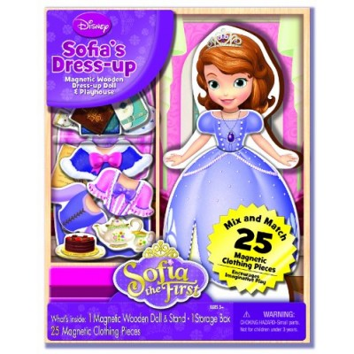 Bendon Disney Sofia The First Wooden Magnetic Playset, 25-Piece