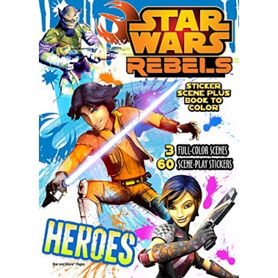 Bendon Publishing Star Wars Rebels Sticker Scene Plus Book to Color