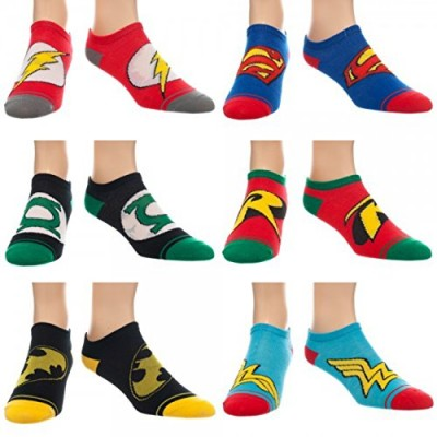 DC Comics Logos Ankle Socks 6 Pair