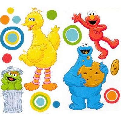 Sesame Street Big Dot Self-Stick Room Appliques