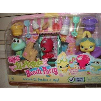 Bratz Lil Angelz Beach Party Petz Pets, Collector Series #788 Octopus, #790 Bunny & #792 Frog