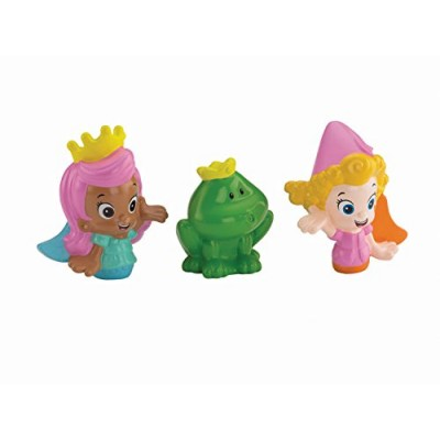 Fisher-Price Nickelodeon Bubble Guppies Molly, Deema and Frog Bath Squirters Toy
