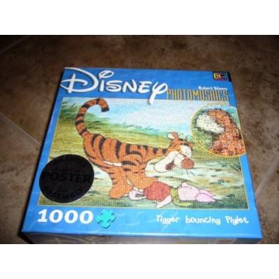 Disney Photomosaics: Tigger Bouncing Piglet by Robert Silvers