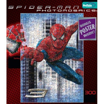 Spiderman 3 Photomosaic Spidey Jigsaw Puzzle 300pc