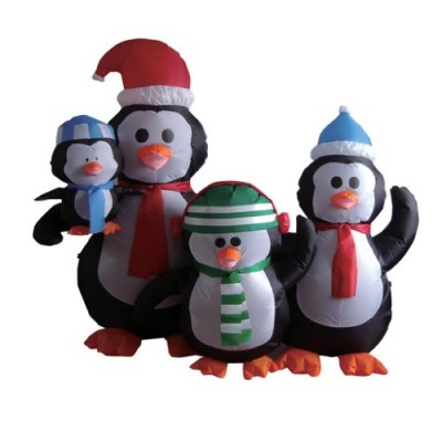 5 Foot Christmas Inflatable Penguins Family Yard Decoration