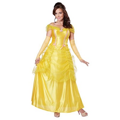 California Costumes Women's Classic Beauty Fairytale Princess Long Dress Gown, Yellow, X-Large