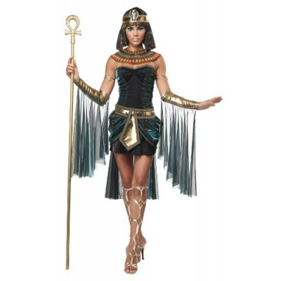 California Costumes Women's Eye Candy - Egyptian Goddess Adult, Black/Teal, Small