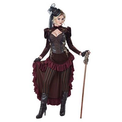 California Costumes Women's Victorian Steampunk, Brown, Medium