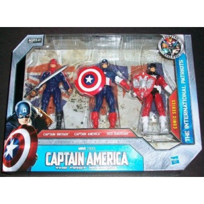 Captain America Movie Exclusive 4 Inch Action Figure 3Pack The International ...
