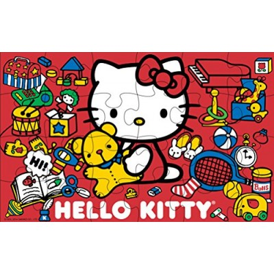 Hello Kitty 7 Wood Puzzles In Wooden Storage Box